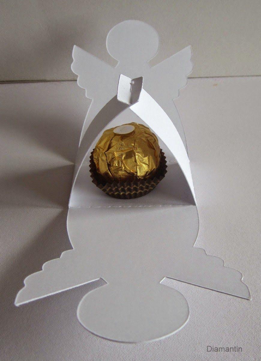 Weihnachtsdeko Ferrero.Diamantin S Hobbywelt Projekt Mit Ferrero Rocher Engel Kerst