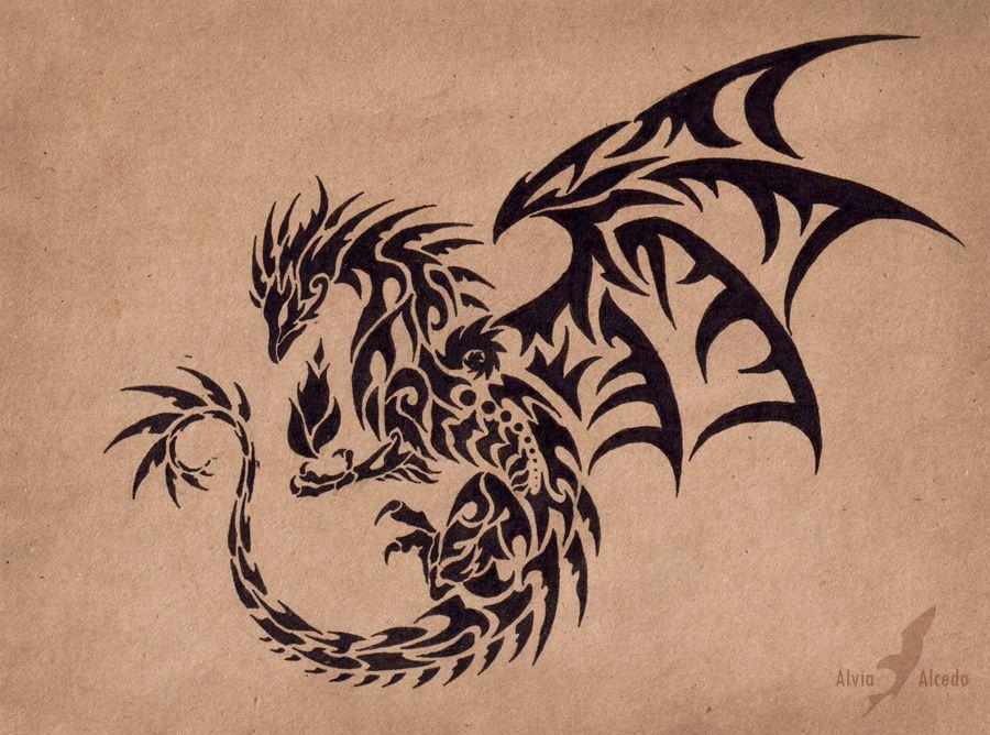 dark flame master dragon tattoo design by alviaalcedo on deviantart tattoos pinterest. Black Bedroom Furniture Sets. Home Design Ideas