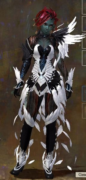 Phoenix Light Armor Skin sylvari female | Guild Wars 2 | Guild wars