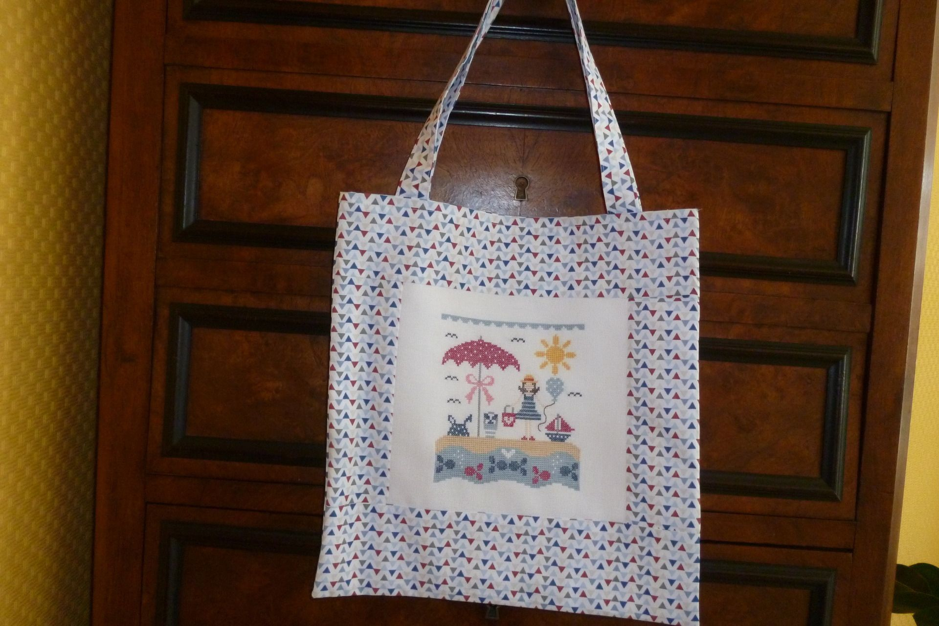 Main L'été Sent Esprit Marin Bag Sacs Bon Tote En Qui Tissu À 8Bx6wcP4q