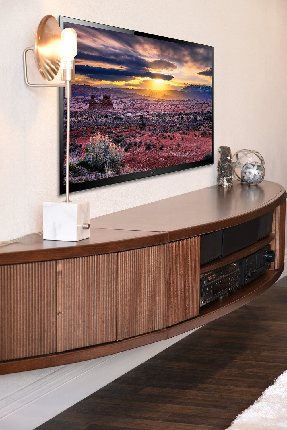Floating Tv Stand Mid Century Modern Entertainment Center Arc Mocha Modern Entertainment Center Floating Entertainment Center Wall Mount Entertainment Center