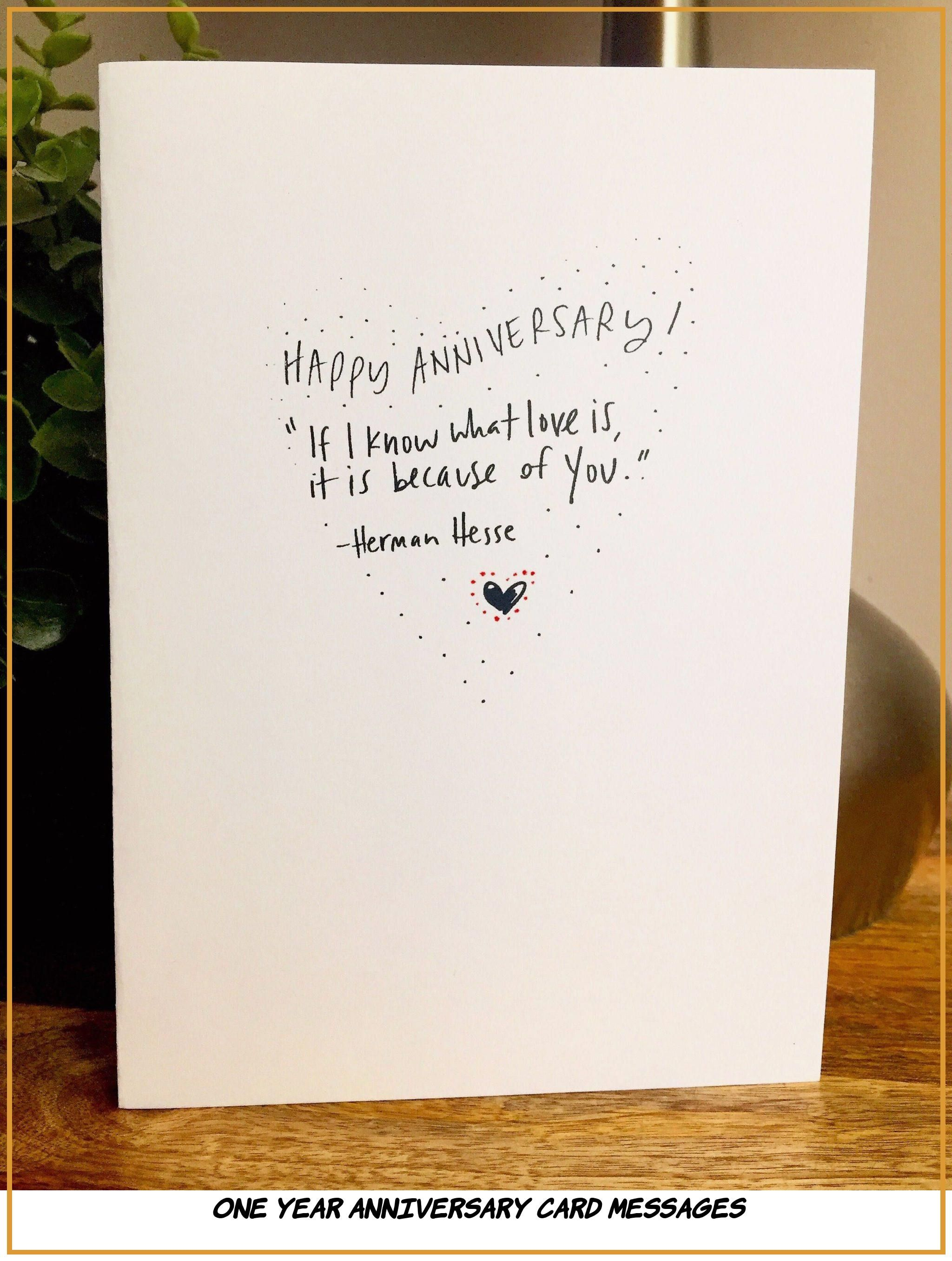 10 Primary One Year Anniversary Card Messages Anniversary Card Messages Anniversary Cards One Year Anniversary