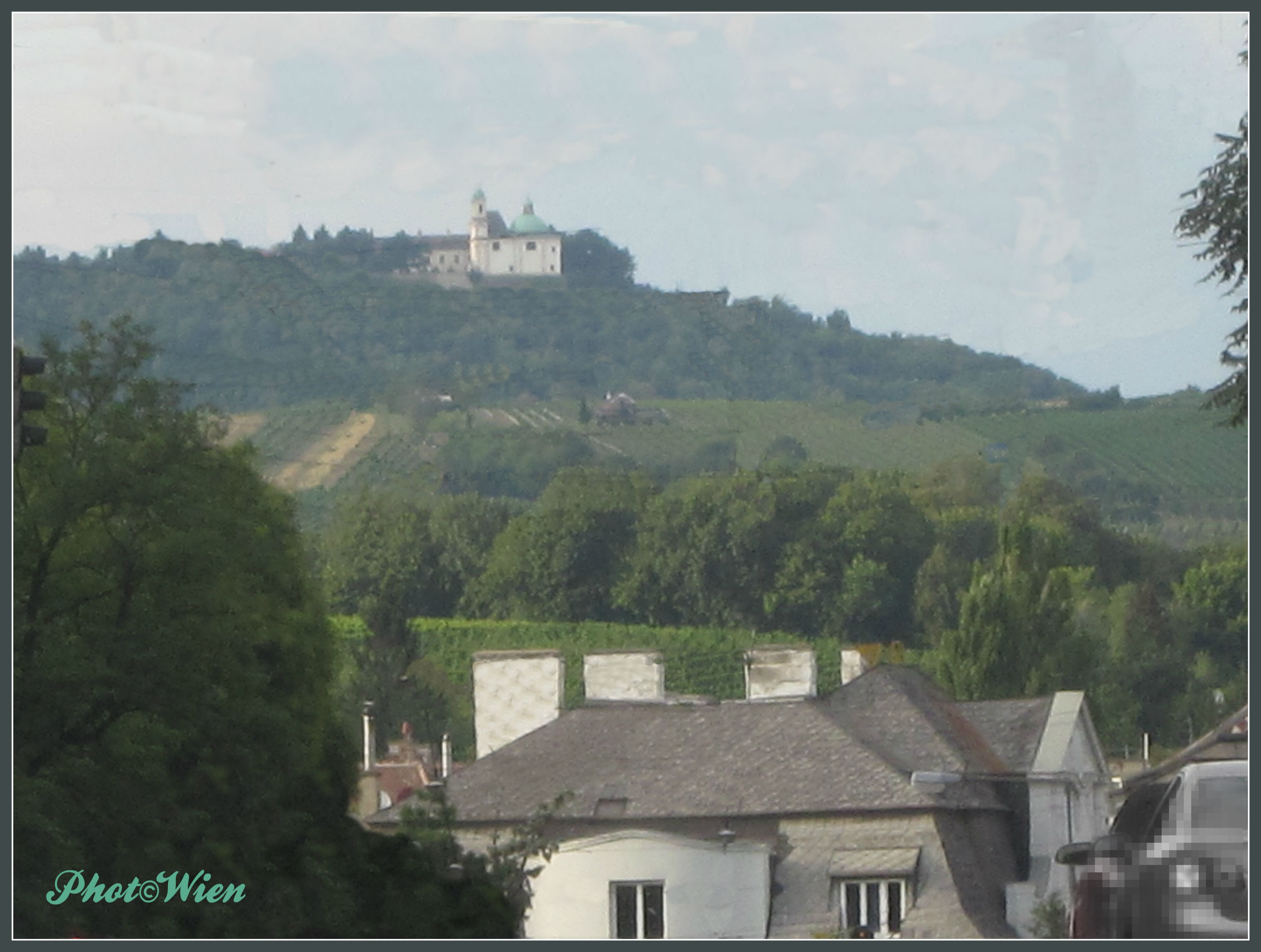 Photo Wien By Rleeb View Of Kahlenberg Mountain From 19th District