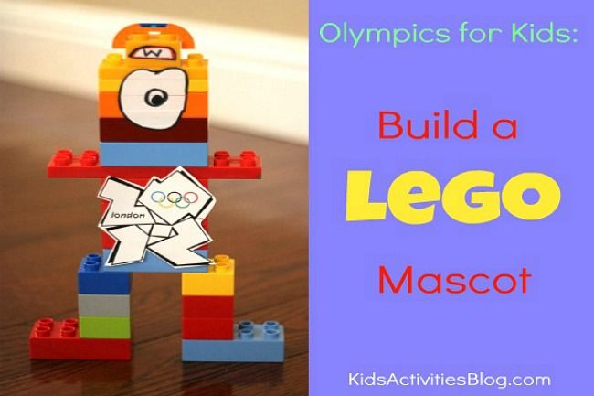 Olympics for Kids: Build a Lego Mascot by Kristina at Kids Activities Blog