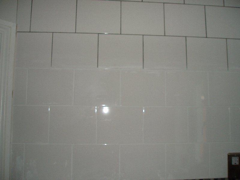 Model White Tile Bathroom Gray Grout White Subway Tile Gray