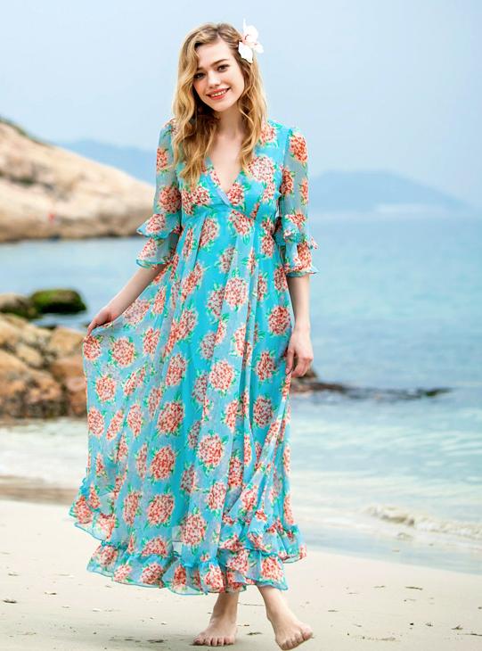 Chiffon Maxi Beach Dress | Wompinx Women Stuffs | Pinterest ...
