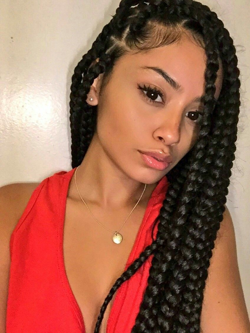 Pinterest: @Aleahxoxo👈🏾 | Box braids styling, Box braids ...