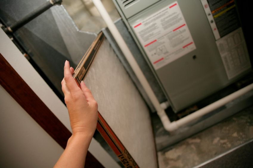 Replace The Air Filter If The Ac Isn T Blowing Cool Air Home Maintenance Furnace Filters Furnace Repair