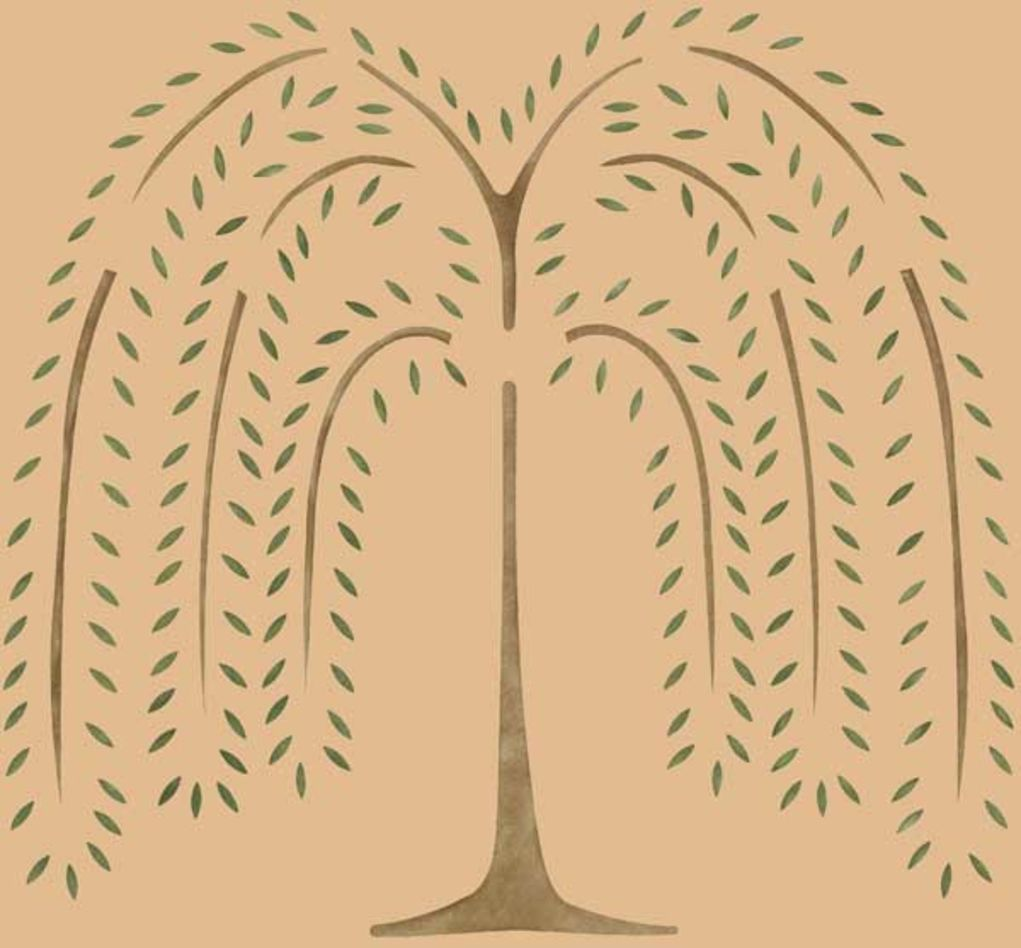 The Weeping Willow tree stencil design by Moses Easton, Jr. | "|1021|948|?|1dccde306e0c06a293258881a04ae5d9|False|UNLIKELY|0.3053927421569824