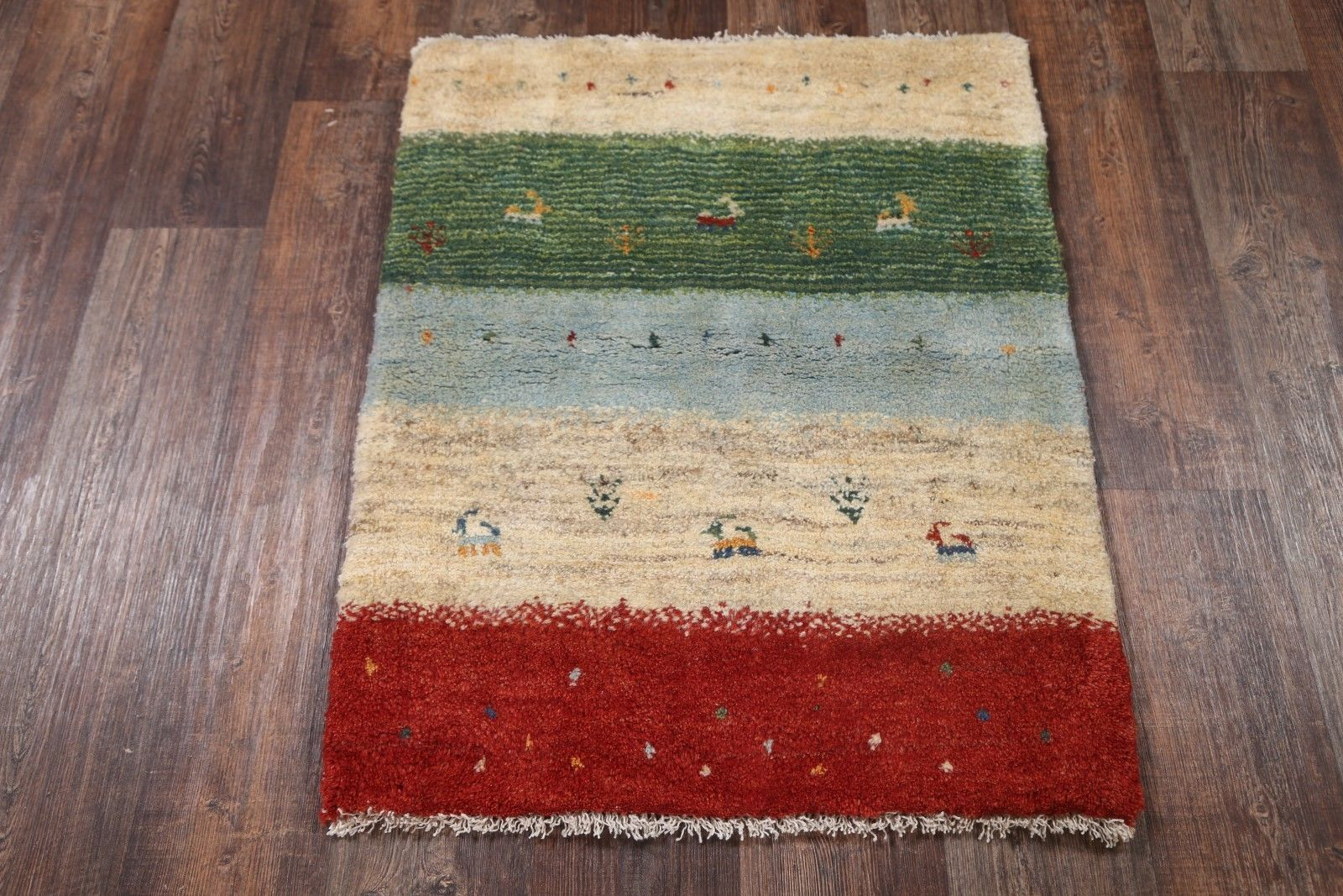 Little Figures Modern 3x4 Gabbeh Shiraz Persian Oriental Area Rug 3 6 X 2 9 In Home Garden Rugs Carpets Ebay