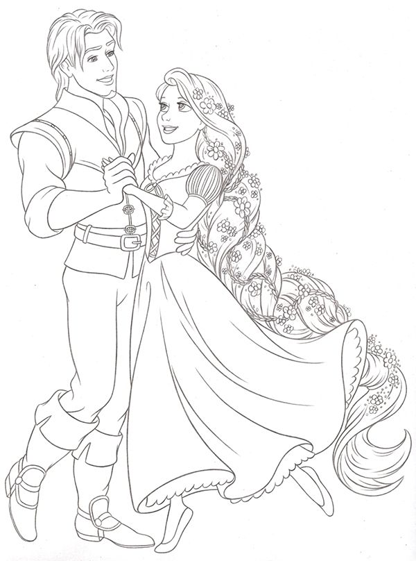 Disney Princess New Redesign Style Guide Art On Behance Tangled Coloring Pages Disney Princess Coloring Pages Princess Coloring Pages