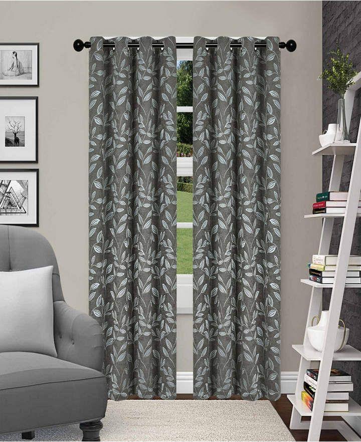 Deconovo Mix And Match Curtain Set 2piece Triangle Printed Navy