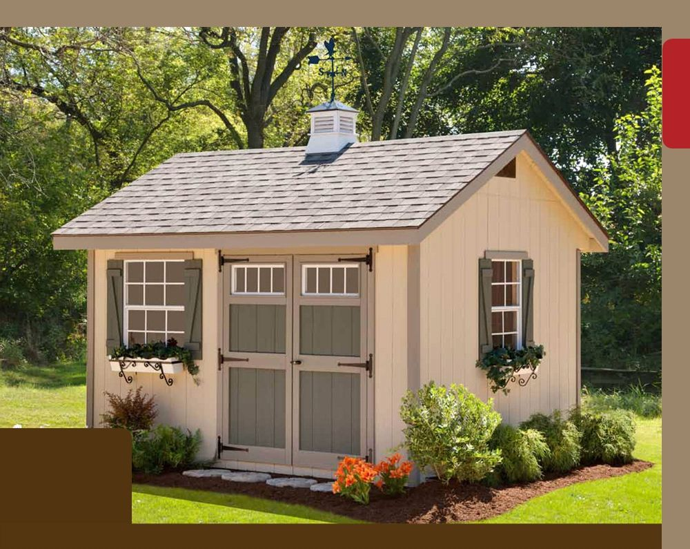 garden shed plans heritage amish shed kit 10 x 16 - Garden Sheds Ohio