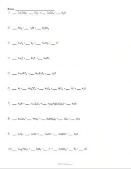 Beautiful Balancing Chemical Equations Worksheet Example