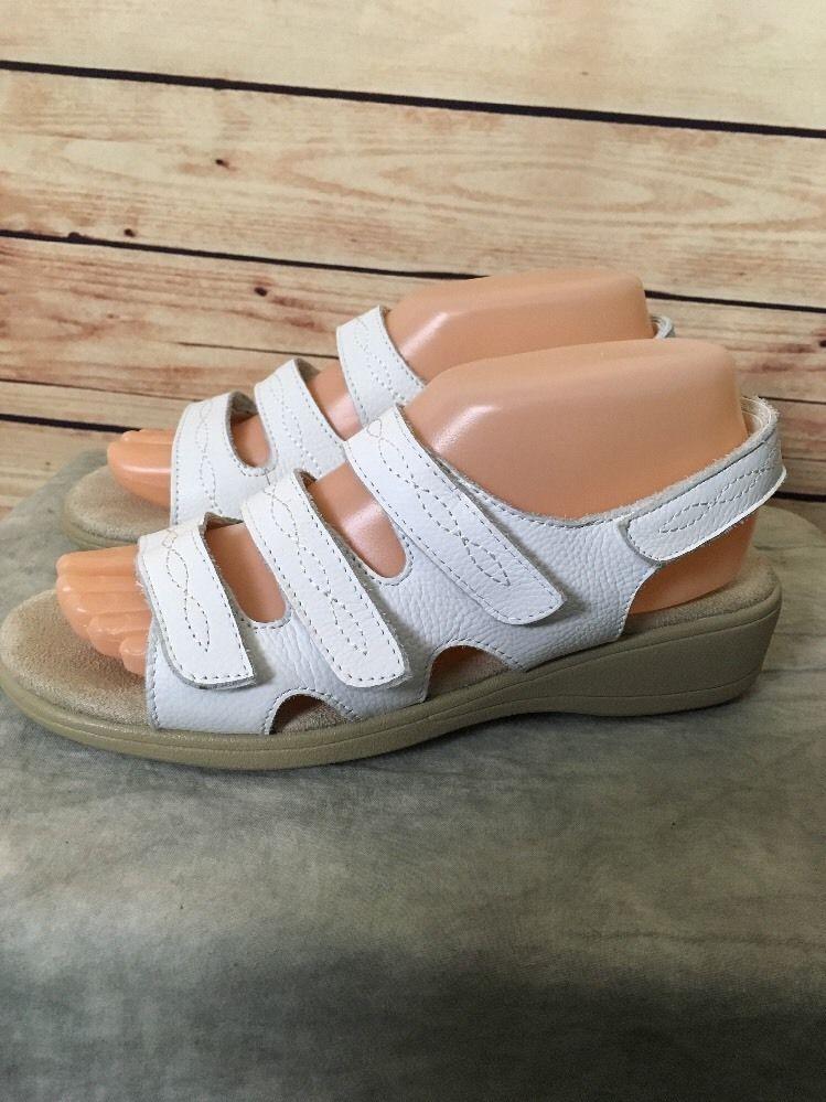 c0e3554669e Cobbie Cuddlers sandals leather Beatrice womens sz 7.5W white ...