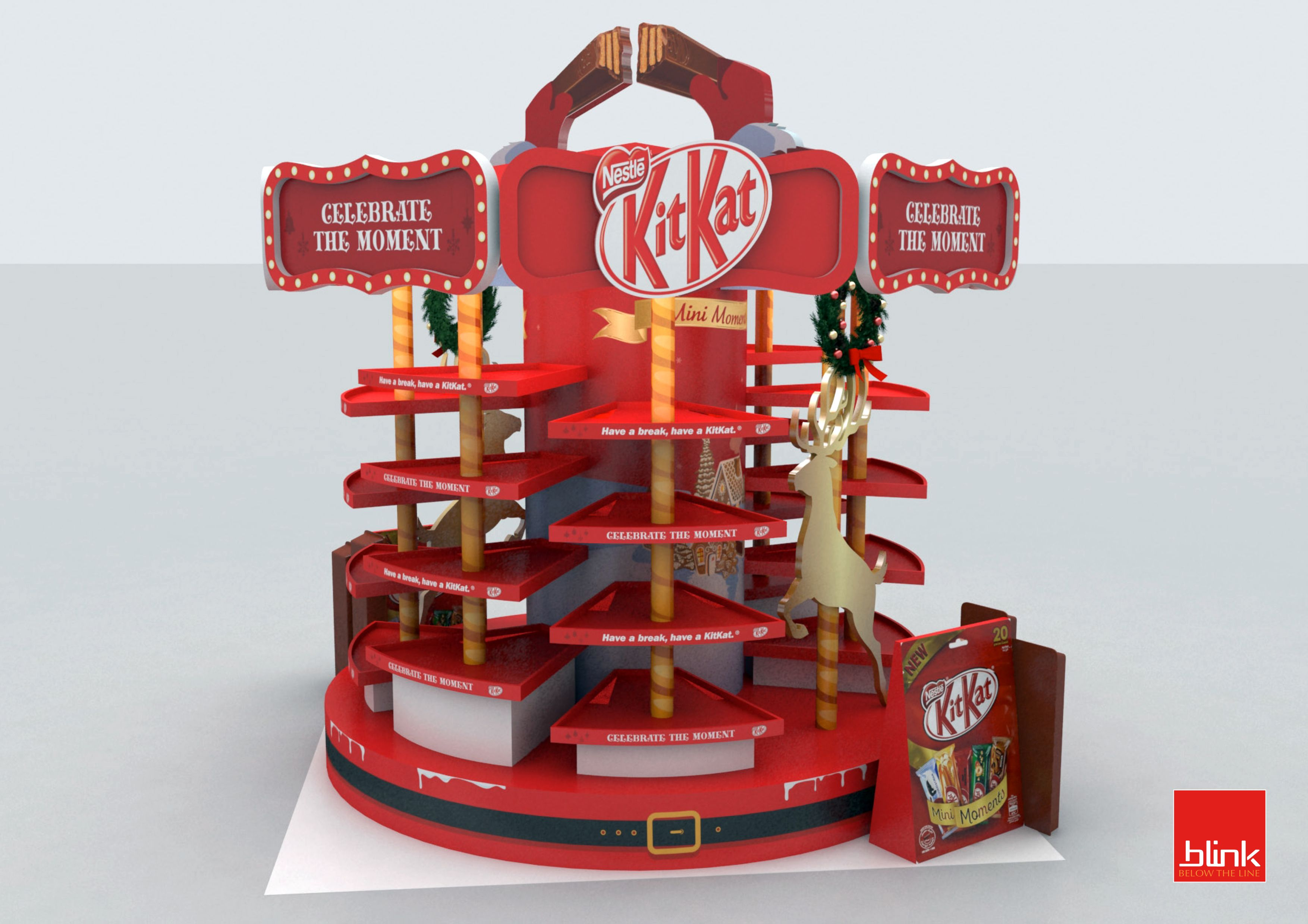 Kitkat Be A Christmas Breaker 2016 Campaign Merchandising  # Muebles Martinez Y Riquelme