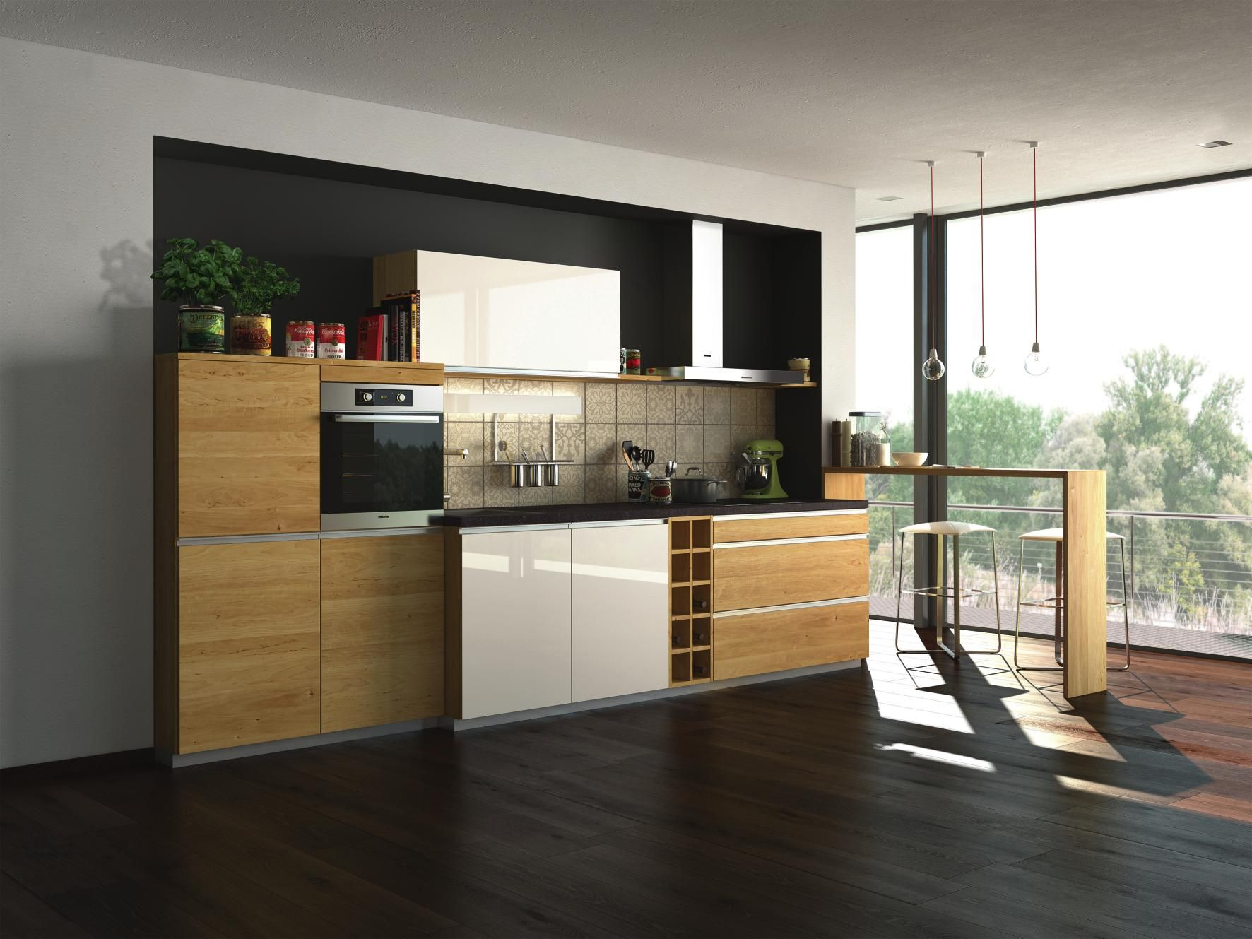 Design einbauküche  Natürlich schön im Design: Einbauküche aus Erlenholz ...