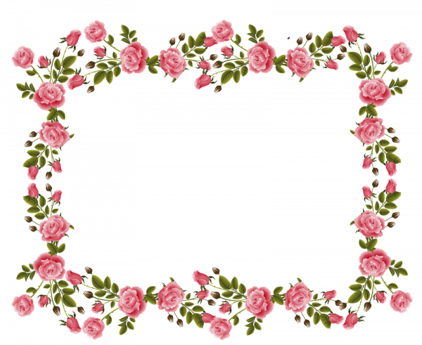Picture 154324 Flower Border Png Rose Flower Border Png Flower Border Rose Frame