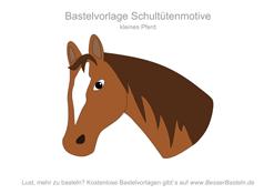 Kleiner Pferdekopf 4 Schultute Basteln Vorlage Schultute Basteln Schultute