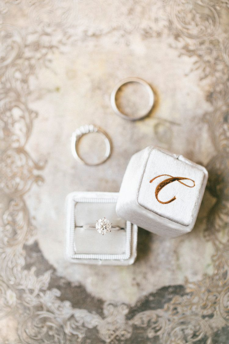 silver velvet ring box, The Mrs Box | photo Caroline Tran