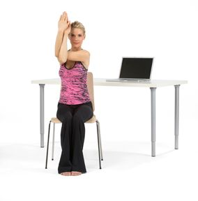 eight of the best office chair yoga poses with images