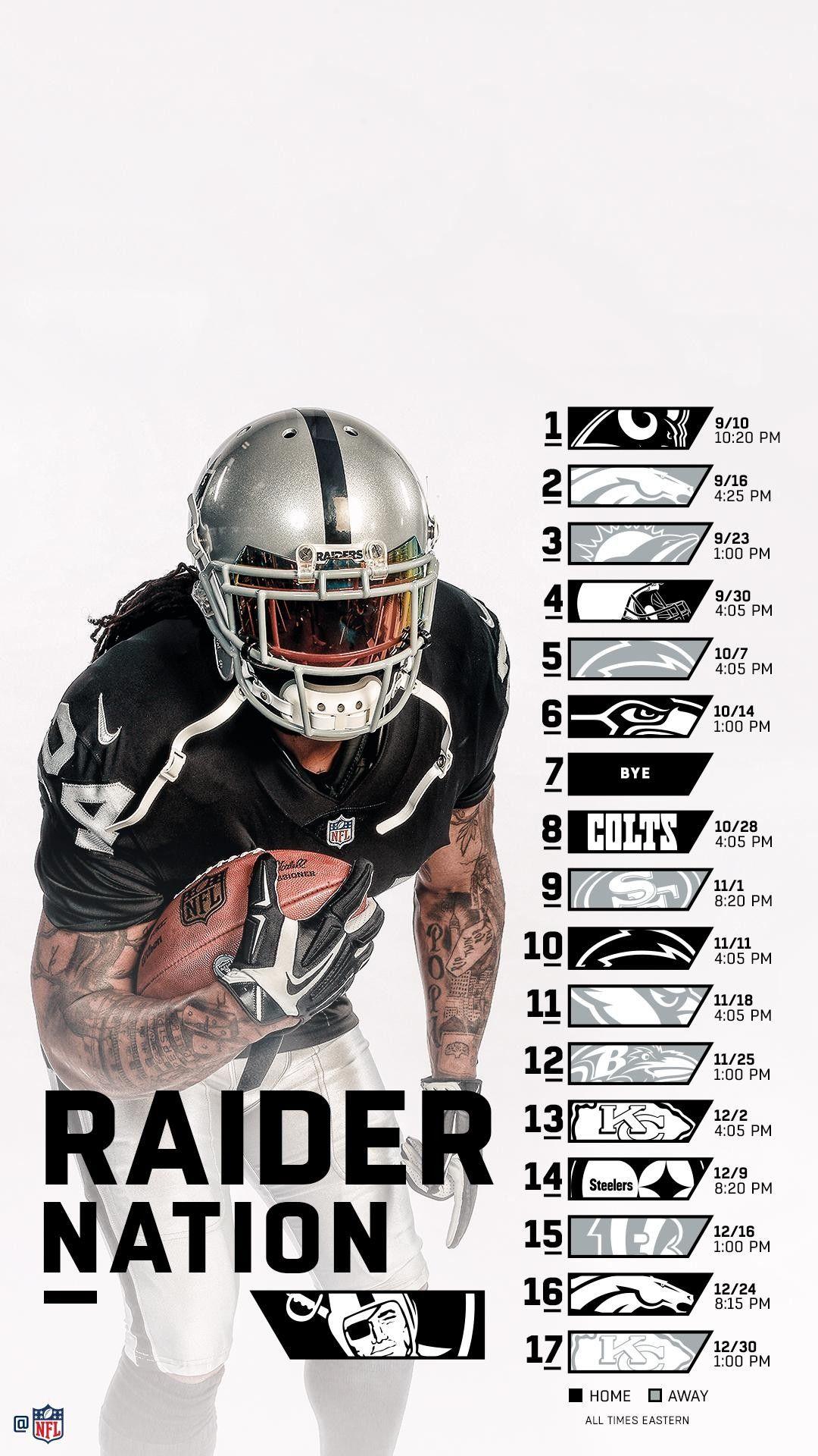 Raiders wallpaper schedule 20182019 Oakland raiders