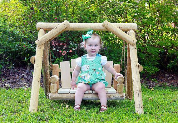 Rustic Wood Cedar Log Porch Swing Chair Photo Photography Prop For Newborn Baby Toddler Small Child Or Pet D Porch Swing Chair Swinging Chair Handmade Chair