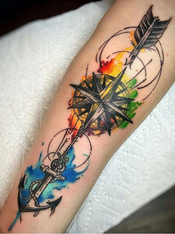 Tatuajes De Brujulas Estilos Mujer Hombre 239 Fotos