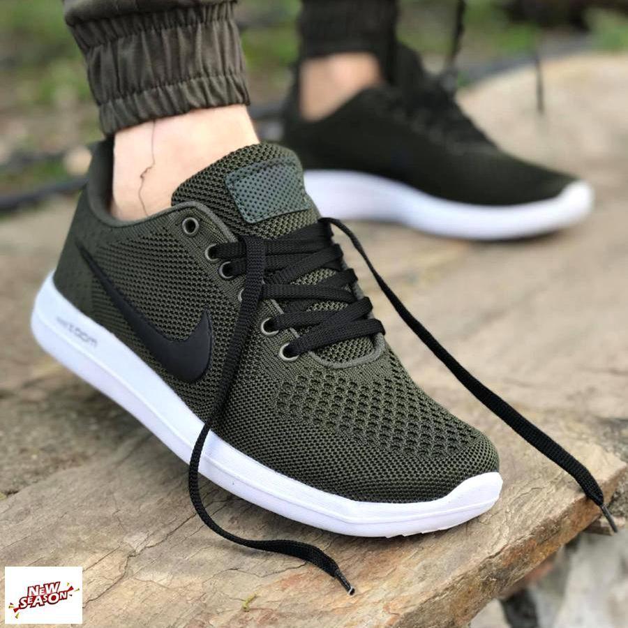 Nike Faylon Dokuma Spor Ayakkabi Haki Ayakkabi Erkek Bayan Ayakkabi Ayakkabilar