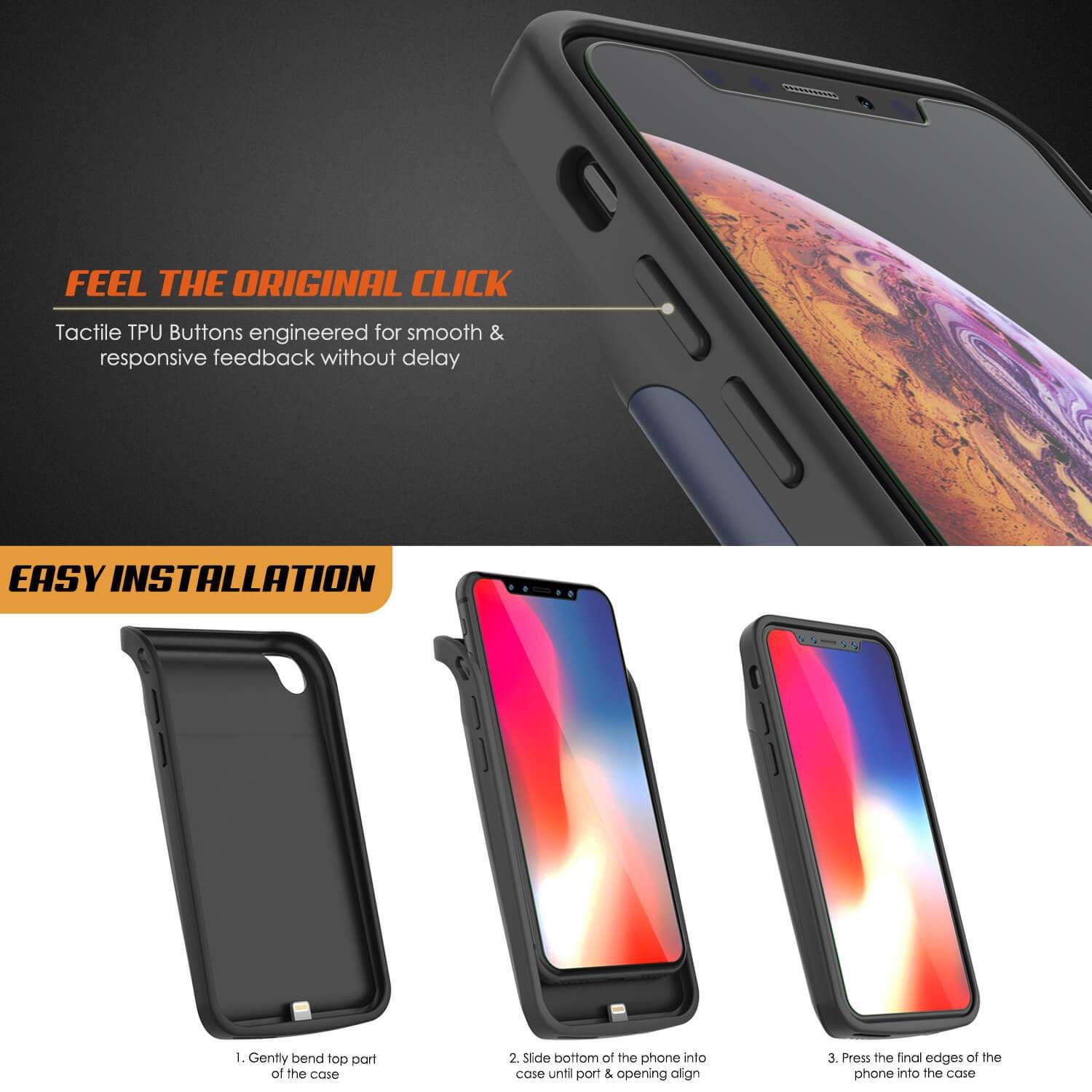 new concept 706bb c4b55 iphone XS Battery Case, PunkJuice 5000mAH Fast Charging Power Bank W ...