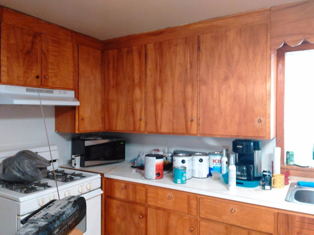 Our Kitchen Was Outdated Dirty And Just Plain Gross When We Moved In I