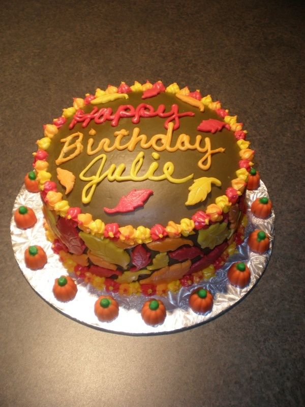 Fall Themed Birthday Cakes Found on cakecentralcom food