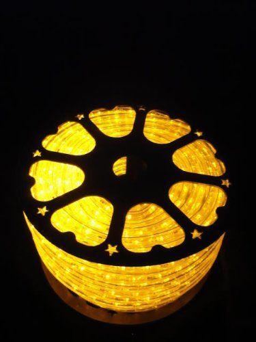 150Ft Rope Lights; Brilliant Amber LED Rope Light Kit; 10\