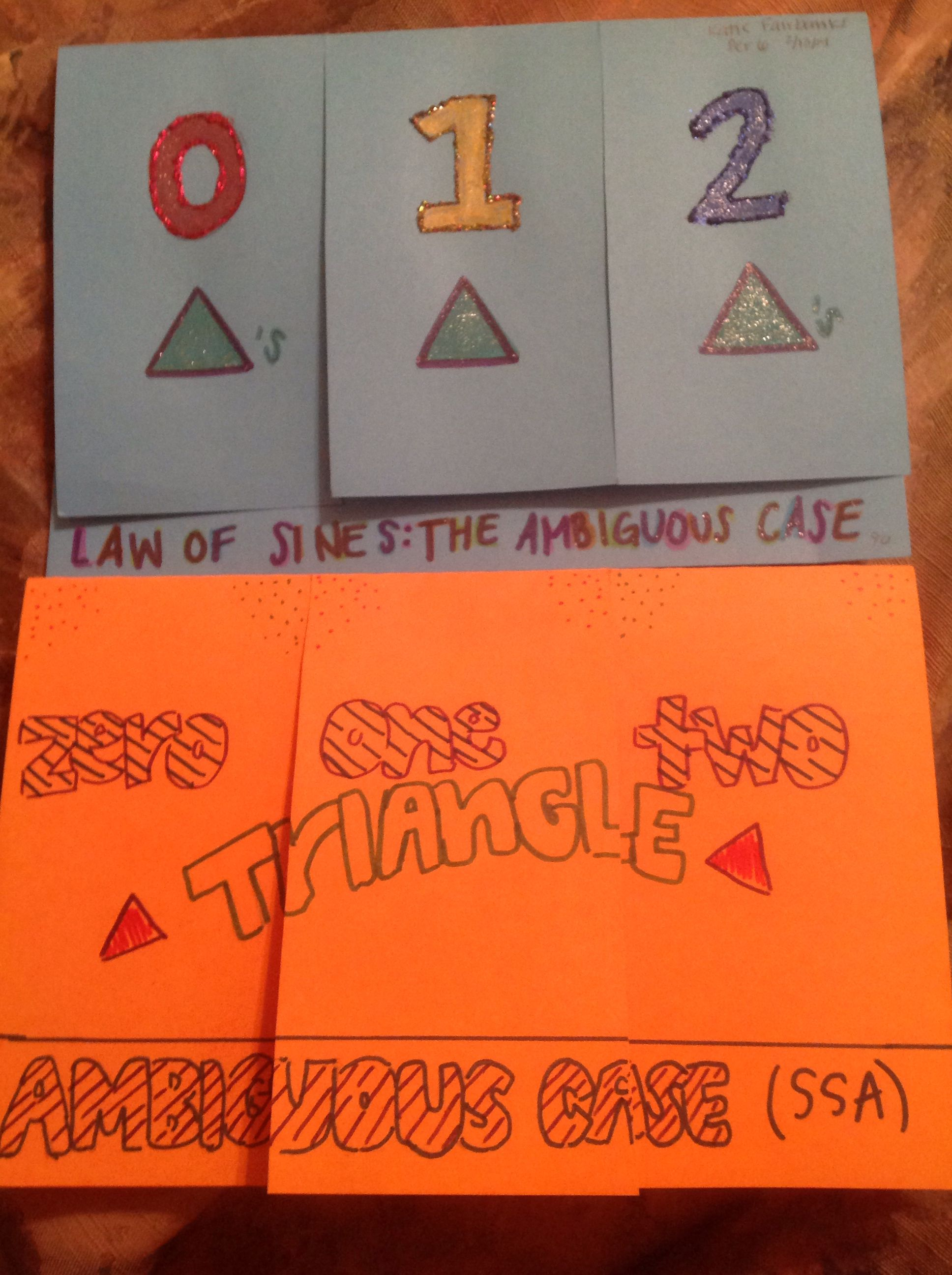 Law Of Sines Foldable The Ambiguous Case