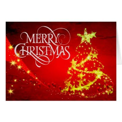 Beautiful Red Christmas Card with Warm Wishes - love cards couple