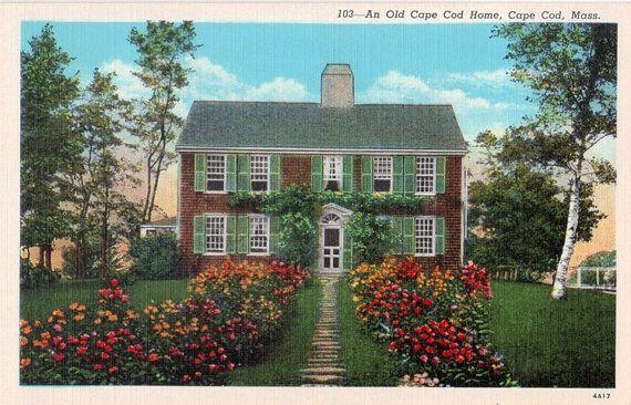 Vintage Cape Cod Postcard  An Old Cape Cod Home by VintagePlum, $4.00