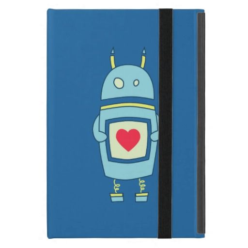 Blue Cute Clumsy Robot With Heart Folio iPad Mini Covers today price drop and special promotion. Get The best buyThis Deals          	Blue Cute Clumsy Robot With Heart Folio iPad Mini Covers please follow the link to see fully reviews...