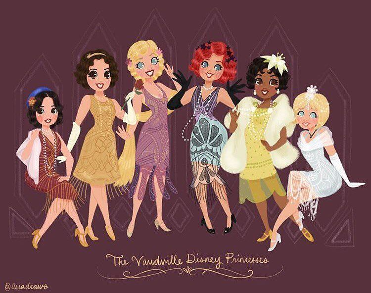 Image result for the vaudeville disney princess asiadraws