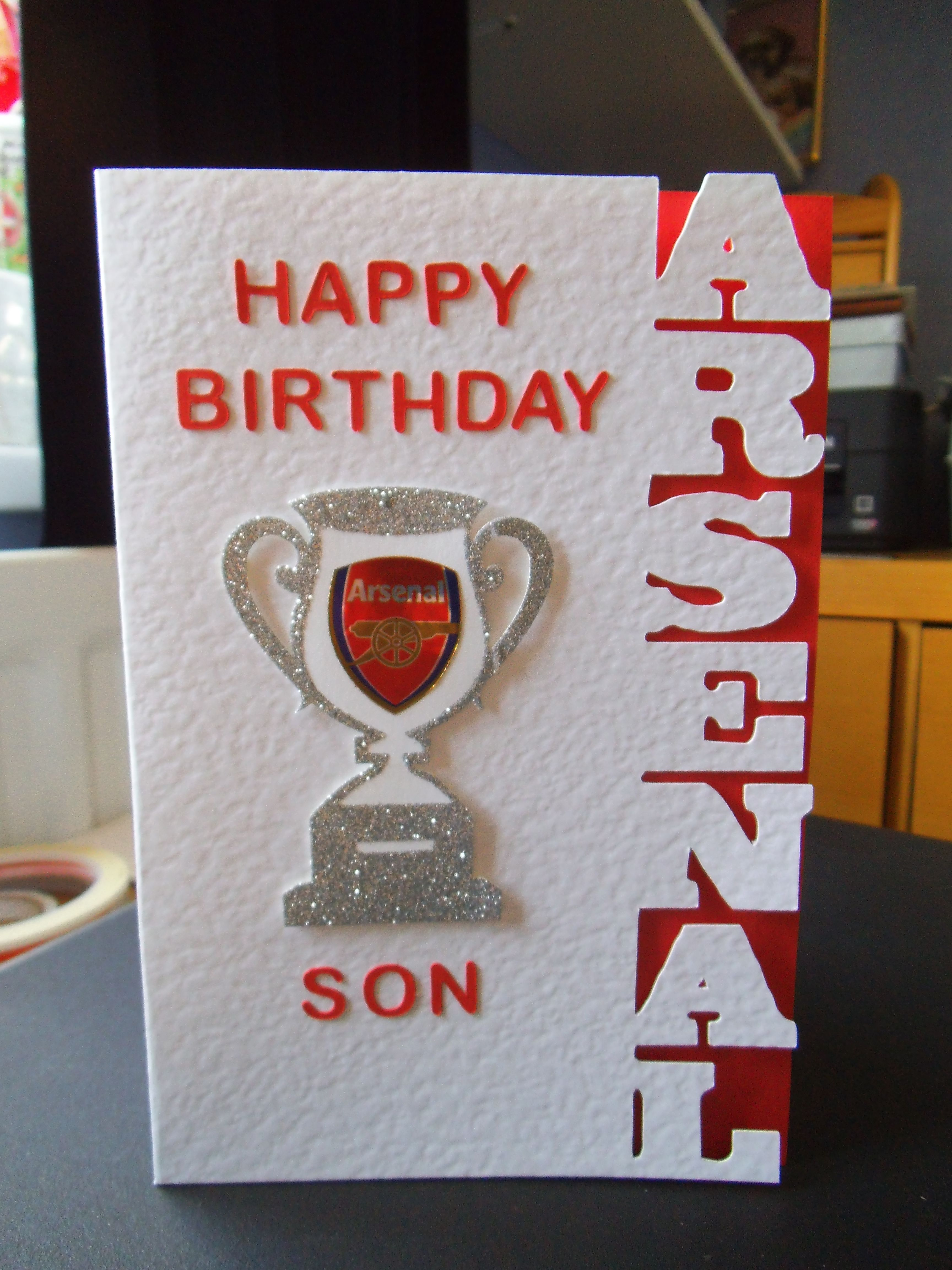 Arsenal Card Cut Out Using Silhouette Cameo Stuff To Try
