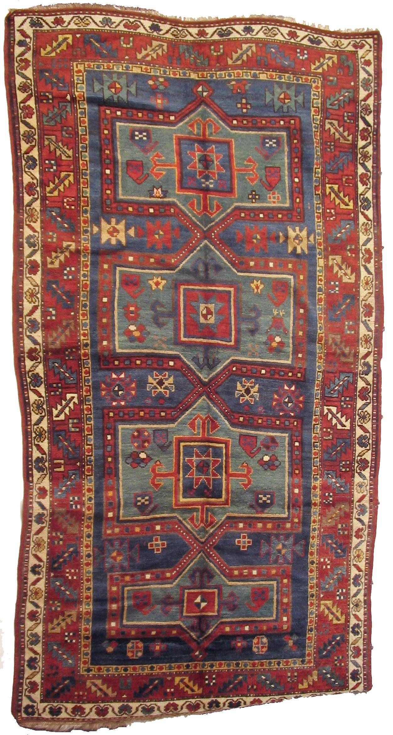 Kazak Circa 1890 Dimensions 253 X 135