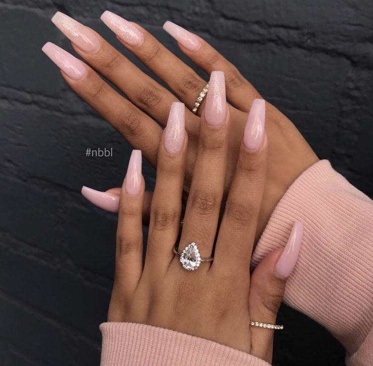 Truubeautys Pink Acrylic Nails Baby Pink Nails Pink Nails