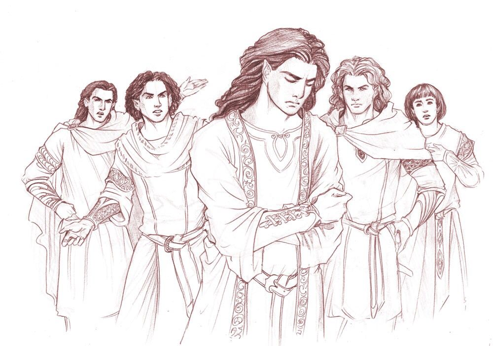 Curufin, Caranthir, Maedhros, Celegorm, Maglor | Cool sketches ...