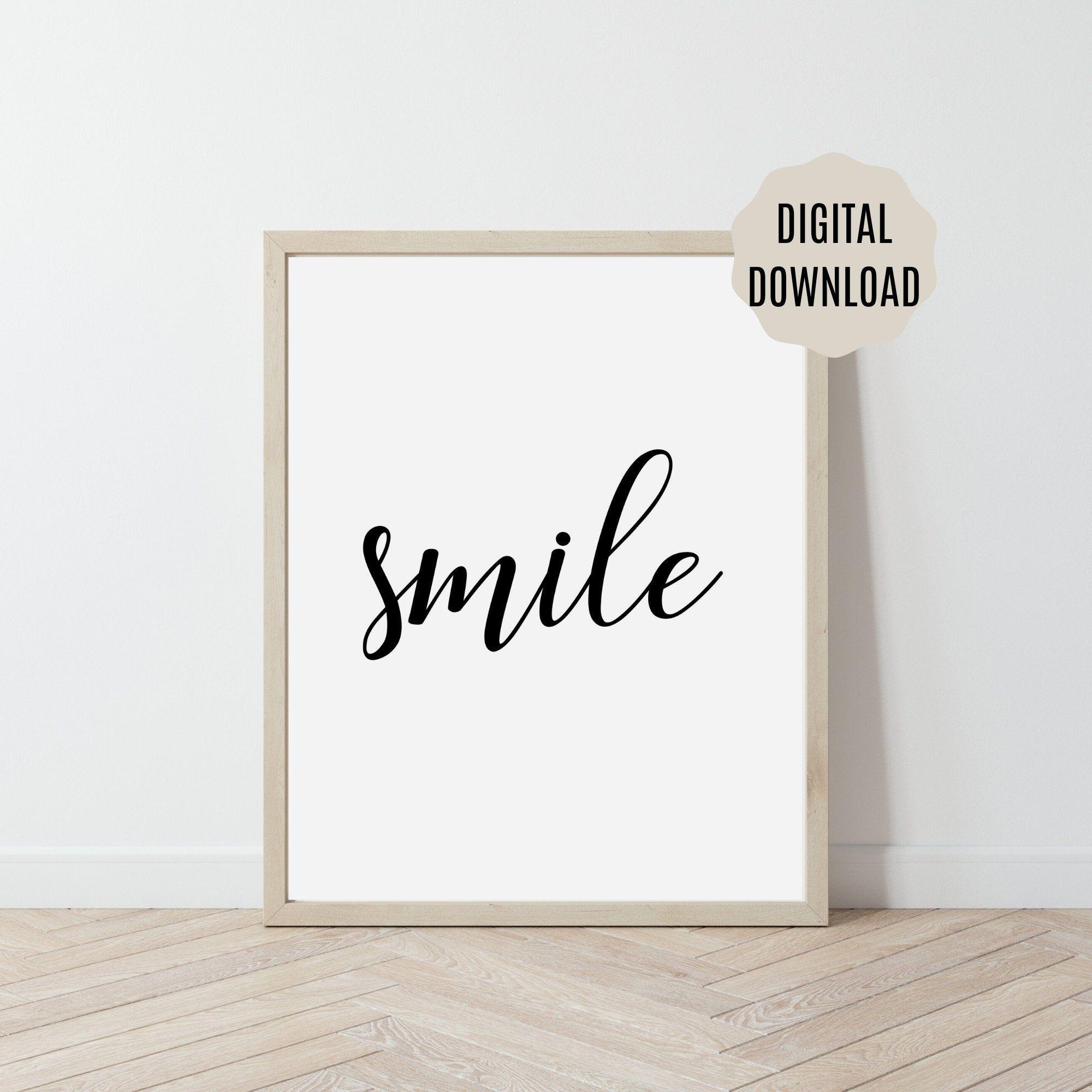 Smile Word Print Motivational