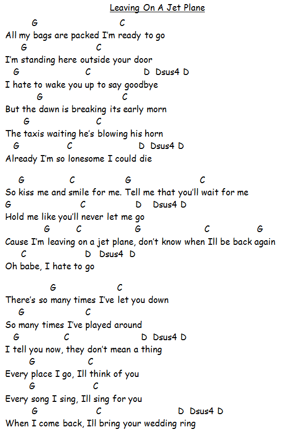 Song Lyrics With Guitar Chords For Under The Boardwalk The
