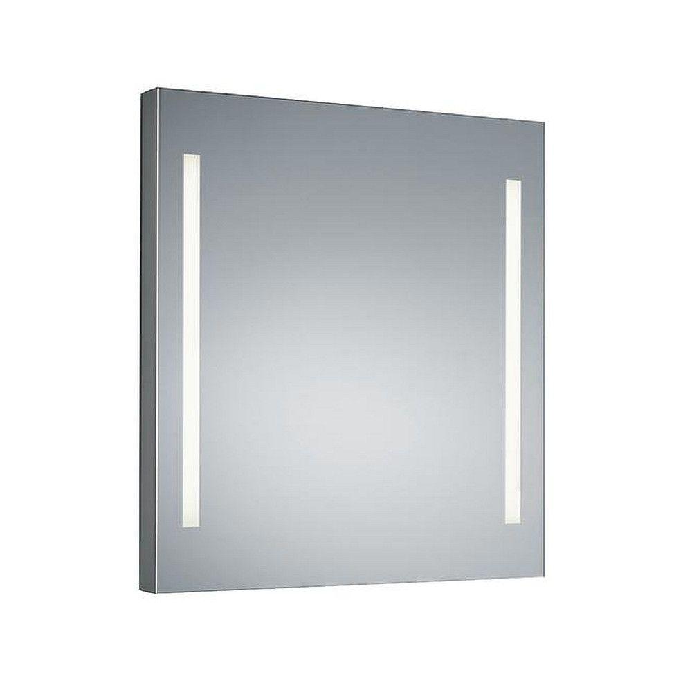 LED Wandaufbau-Spiegelleuchte MIRROR, IP44, 2-seitig, teilmattiert, H/B 60/60cm, 2x12W 3000K 2x1138lm, CRi> 90