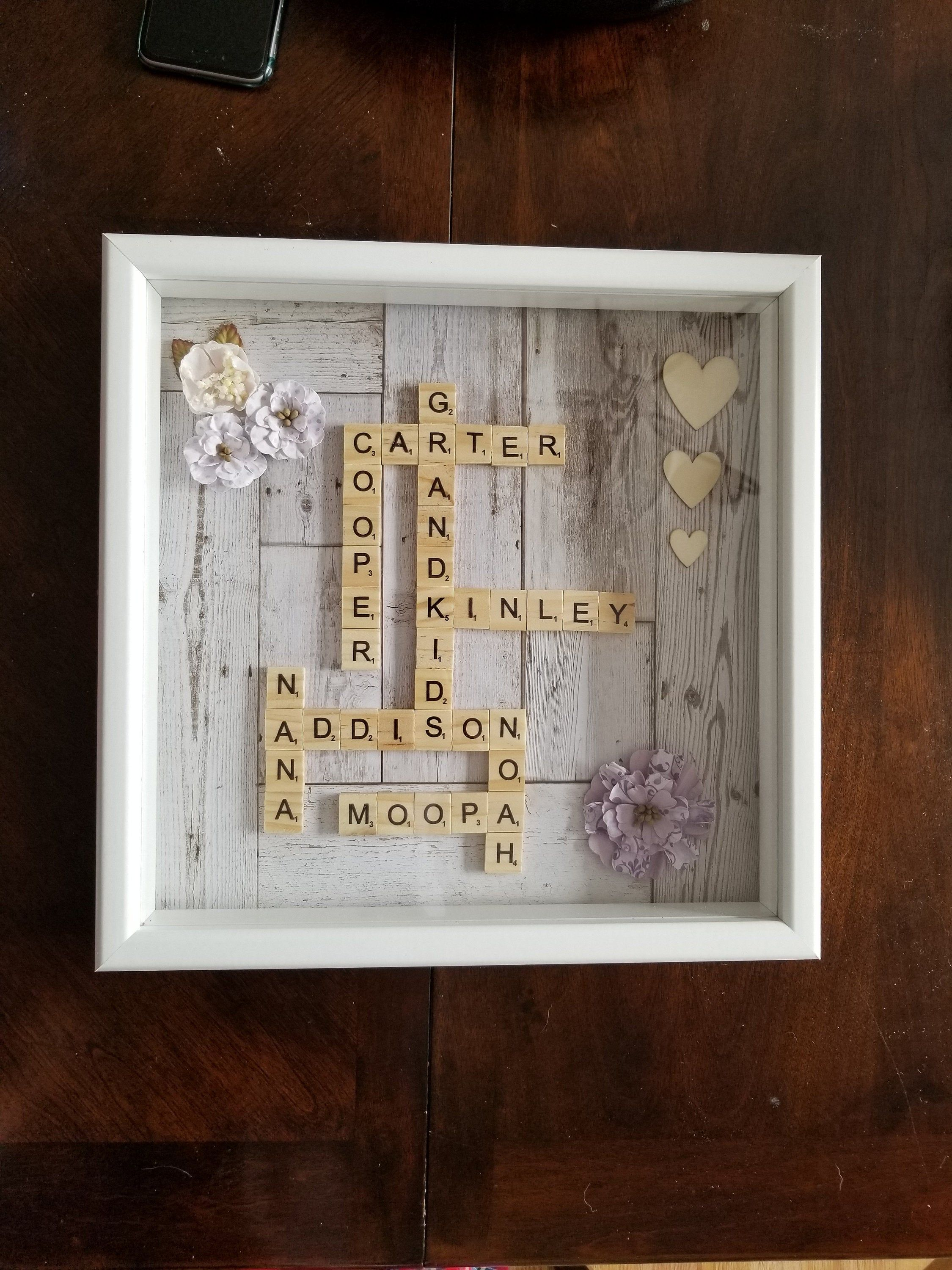 Personalized Scrabble Frame Scrabble Shadowbox Personalized Gift