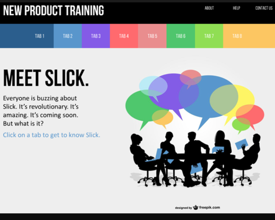 this vibrant powerpoint template has a rainbow of gorgeous tabs, Presentation templates