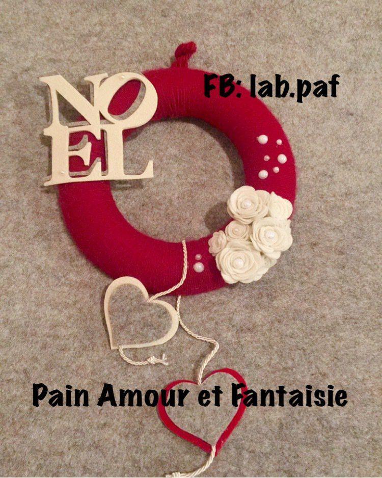 Photo of Ghirlanda natalizia rossa, by Pain Amour et Fantaisie, 26,00 € su misshobby.co…