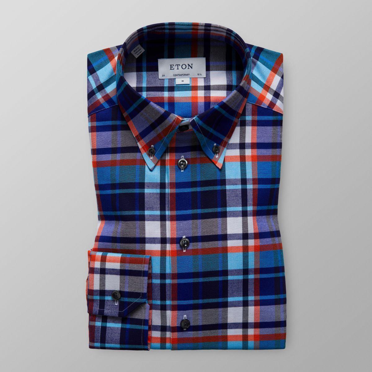 f448513b92 Bold Check Button-Down Shirt   Eton Shirts UK   Weaving patterns ...