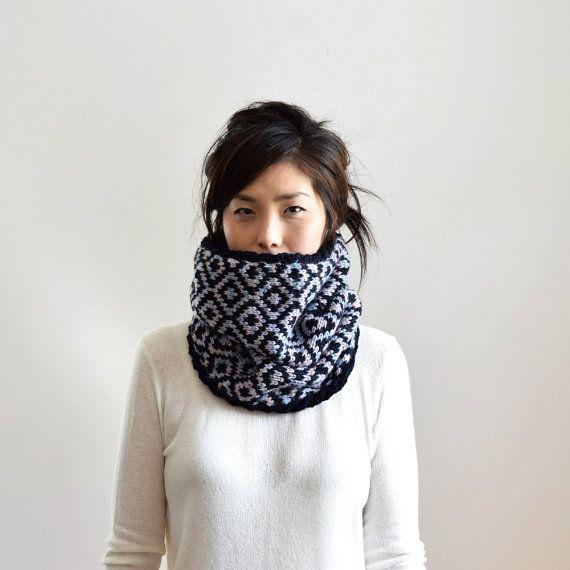 Merino Wolle klobige Schal stricken Infinity Schal von IRISMINT ...